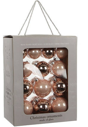 """Елочные шарики 26 шт., """"House of Seasons"""" комплект, цвет розовый, фото 2"""