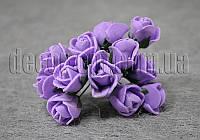 Букет фиолетовых розочек из латекса 1,5-2 см