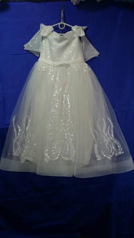 Подростковое нарядное платье для девочки р.9-10 лет опт, фото 2