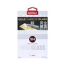 Защитное cтекло Remax для Apple iPhone 5/5S/5C Golden Mirror, 0.2mm, 9H