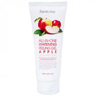 Пилинг-скатка для лица яблоко Farmstay SNAIL ALL IN ONE WHITENING PEELING GEL CREAM APPLE 180мл
