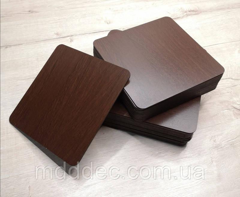 Подложка для торта квадратная венге 28*28 см .Подставка под торт. Усиленная подложка для торта.