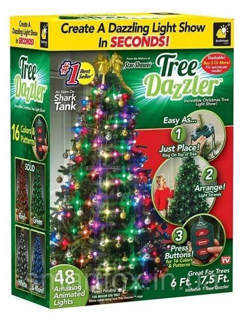 Новогодняя гирлянда Tree Dazzler 48:LED RGB многорежимная