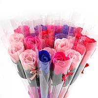 Букет роз, Цветок лепестки розы из Мыльной основы ручной работы 1шт, фото 1