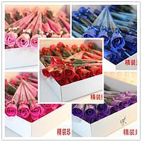 Букет роз, Цветок лепестки розы из Мыльной основы ручной работы 38шт