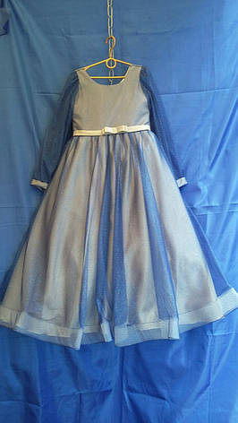 Підліткове ошатне плаття для дівчинки з довгим рукавом р. 10-12 років опт, фото 2