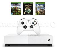 Игровая консоль MICROSOFT XBOX ONE S 1TB All-Digital Edition + Sea Of Thieves + Minecraft + Fortnite: Battle R