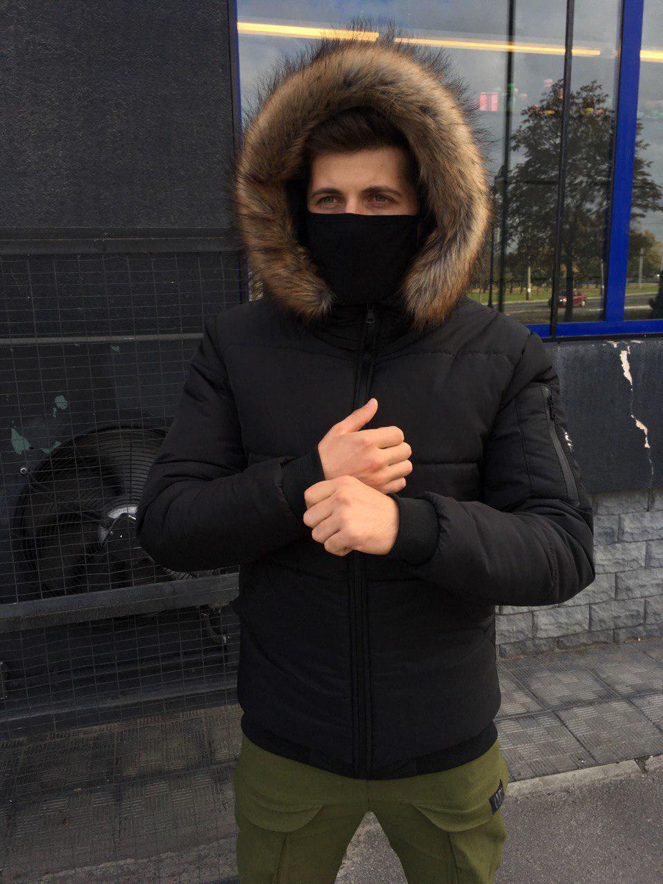 😜 Парка - Мужская зимняя куртка с капюшоном