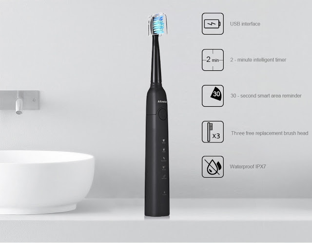 Alfawise SG 949 Black Звуковая электрическая зубная щетка