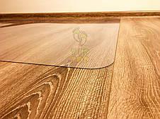 Защитный напольный коврик под кресло Tip Top™1,0мм 1000*1250мм Прозрачный (закругленные края), фото 3