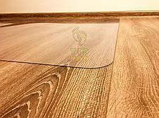 Защитный коврик под кресло из поликарбоната Tip Top™ 0,8мм 1000*1250мм Прозрачный (закругленные края), фото 3
