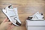Женские зимние кроссовки Louis Vuitton (бело-коричневые), фото 5