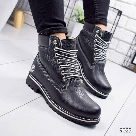 """Ботинки женские зимние, черного цвета из натуральной кожи """"9025"""". Черевики жіночі. Ботинки теплые, фото 2"""