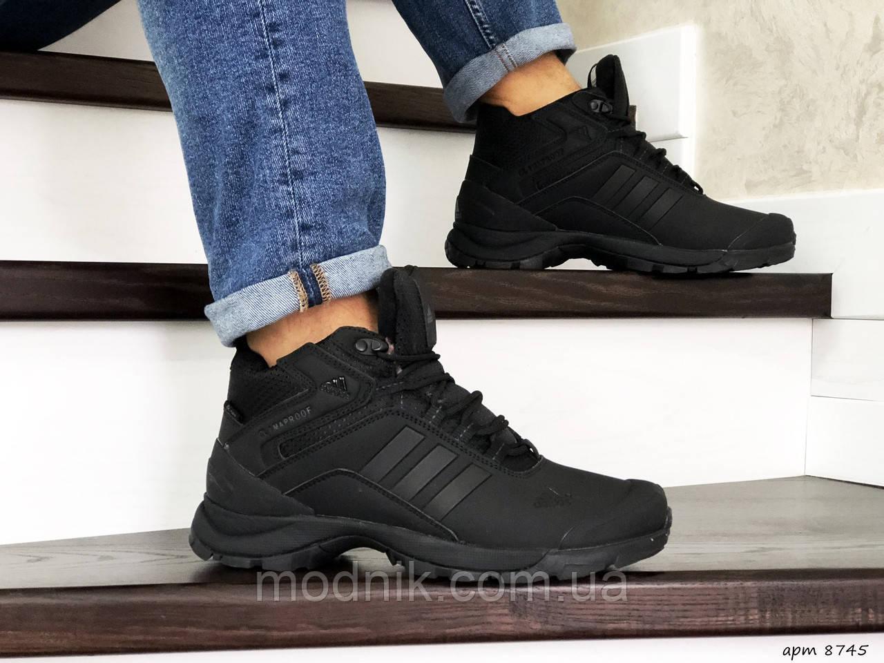 Мужские кроссовки Adidas Climaproof (черные) ЗИМА