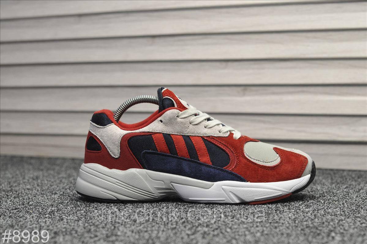 Мужские кроссовки Adidas Yung (бело-красные)