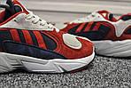 Мужские кроссовки Adidas Yung (бело-красные), фото 4