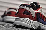 Мужские кроссовки Adidas Yung (бело-красные), фото 6