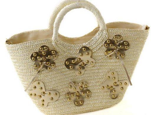 Модная летняя сумка-корзина Podium 6924 white, белый