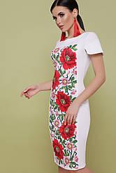 GLEM Маки платье Питрэса-КД к/р