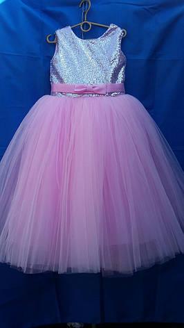 Дитяче плаття для дівчинки р. 6-7 років опт євро сітка, фото 2