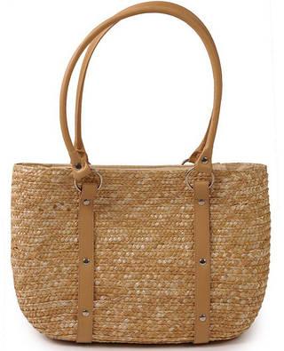 Практичная летняя сумка-корзина Podium 6927 natural, естественный