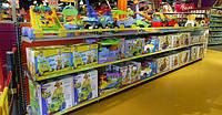 Стеллажи торговые для магазина детских товаров. Торговое оборудование WIKO для детских магазинов