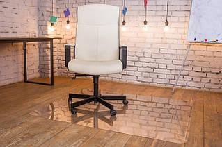 Захисний килимок під крісло з полікарбонату Tip Top™ 0,8 мм 1000*1250мм Прозорий (закруглені краї)