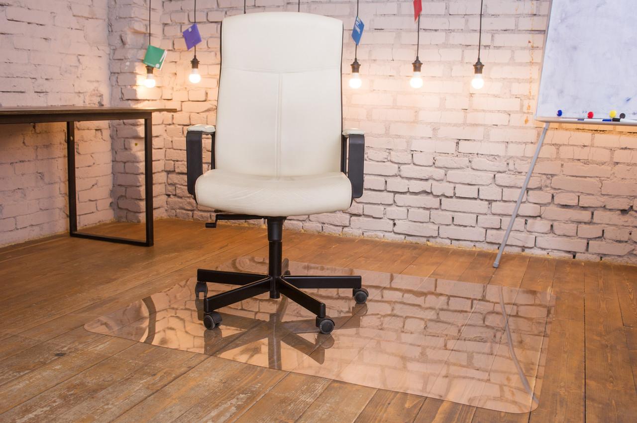 Защитный коврик под кресло из поликарбоната Tip Top™ 0,8мм 1000*1250мм Прозрачный (закругленные края)