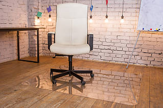 Защитный напольный коврик под кресло Tip Top™1,0мм 1000*1250мм Прозрачный (закругленные края)