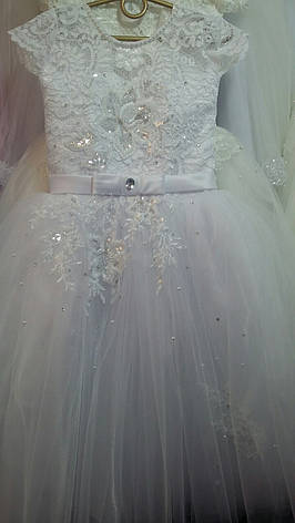 Платье нарядное для девочки р. 5-6 лет опт евро сетка, фото 2
