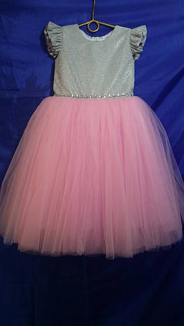 Дитяче плаття для дівчинки р. 5-6 років опт євро сітка, фото 2