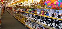 Стеллажи торговые с полками для детских товаров. Полочные стеллажи WIKO в магазин игрушек