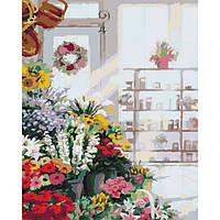 Картина по номерам Идейка В цветочном магазине 50х50 (KHO2023)