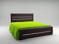 Кровать Неман Соломия венге южный, скол дуба белый с ящиками