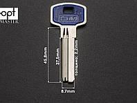 Заготовка ключа Hooply металл (2) + пластиковая вставка