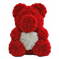 Мягкая игрушка Teddy Rose Мишка из 3D роз Красный 40 см (P879)