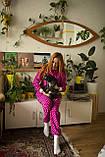 Детская флисовая пижама малиновая 134, фото 5