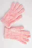 Мохнатые детские перчатки