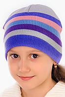 Голубая шапка для девочек