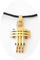 Кулон INOX 44 крестик с позолотой