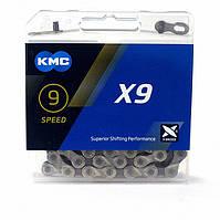 Цепь KMC X9, 116L-SGR (серебристый)