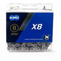 Цепь KMC X8, 116L-SGR (серебристый)