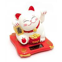 Кошка Манэки-нэко на солнечной батарее 10,5х10х9см 29730