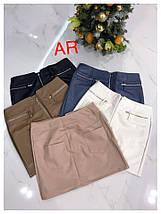 Короткая облегающая юбка из экокожи 44-46 р, фото 3
