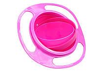 Тарелка-неваляшка Universal gyro  Розовый
