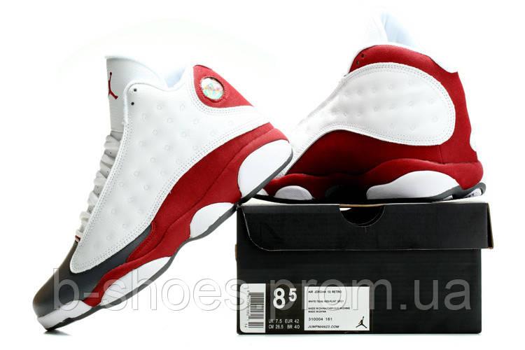 Мужские кроссовки Air Jordan Retro 13 (White/Red)