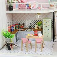 Подарок девочке DIY miniature House интерьерный 3D-конструктор РУМБОКС + LED подсветка 28*19*16см, фото 6