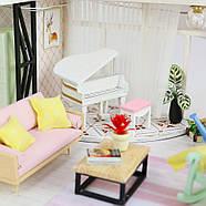 Подарок девочке DIY miniature House интерьерный 3D-конструктор РУМБОКС + LED подсветка 28*19*16см, фото 8