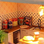 Подарок девочке DIY miniature House интерьерный 3D-конструктор РУМБОКС + LED подсветка 28*19*16см, фото 9
