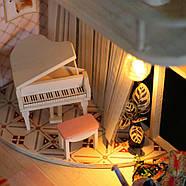 Подарок девочке DIY miniature House интерьерный 3D-конструктор РУМБОКС + LED подсветка 28*19*16см, фото 10